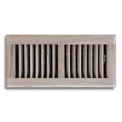 4 in. x 10 in. Oak Floor Diffuser